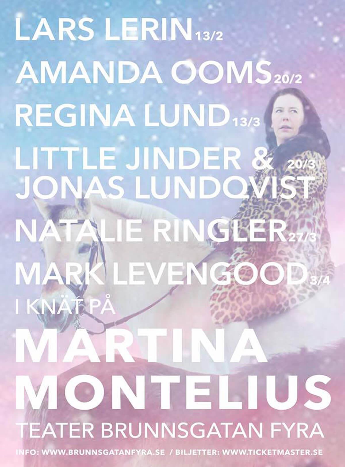 I knät på Martina Montelius